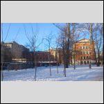 """Это вид на здание школы сзади, """"со двора"""" из Выборгского садика. Вероятно, братья в школьные годы так к ней подходили, по относительной географии их места жительства :-)"""
